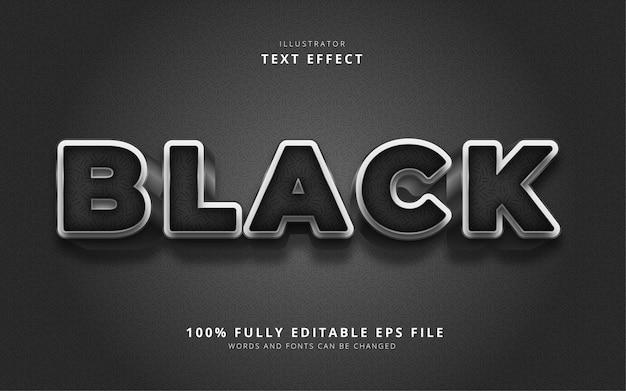 Эффект черного текста Premium векторы