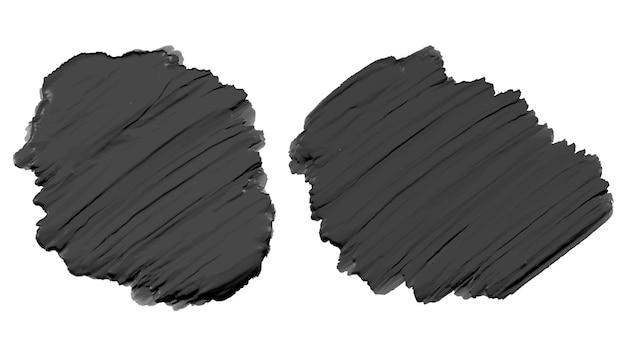 Черная густая акриловая текстура акварельной краски Бесплатные векторы
