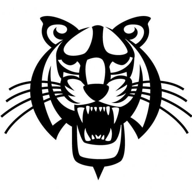 Black tiger head vector illustration Vector   Free Download
