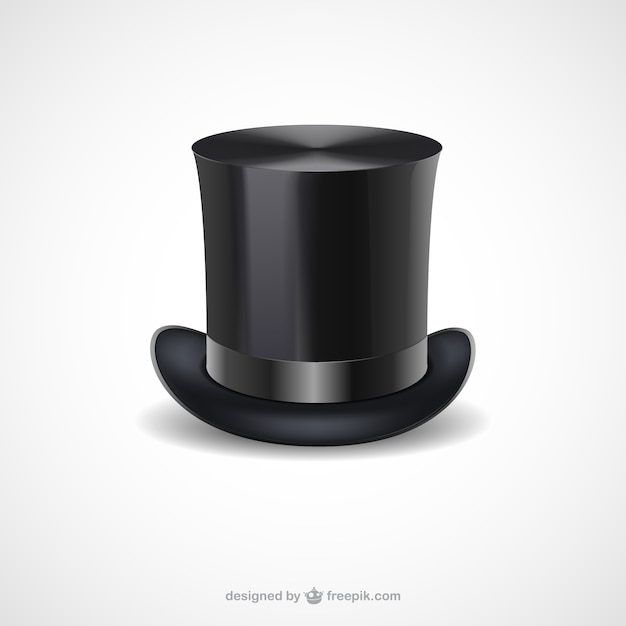 Black top hat Free Vector