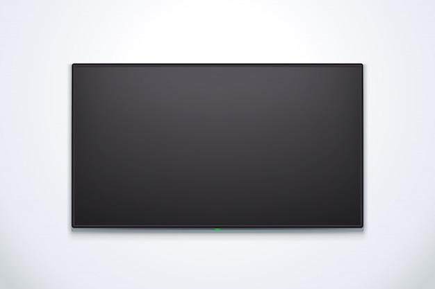 Черный телевизор с тенью Premium векторы