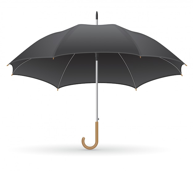 Black umbrella vector illustration Premium Vector