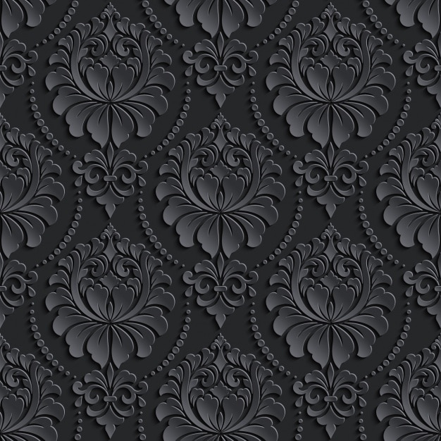 Black vintage pattern design Premium Vector