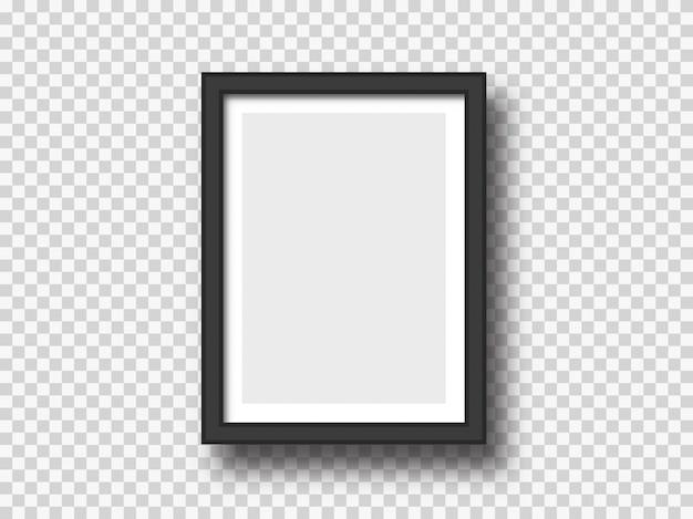 Черная настенная картина или рамка для фотографий макет Premium векторы