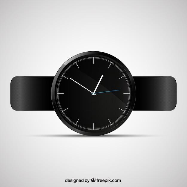 Черный часы Бесплатные векторы