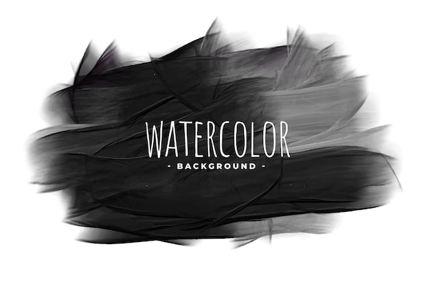 Black watercolor grunge texture stain background Free Vector