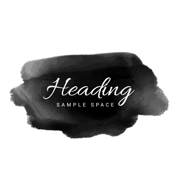 black watercolor stain Free Vector
