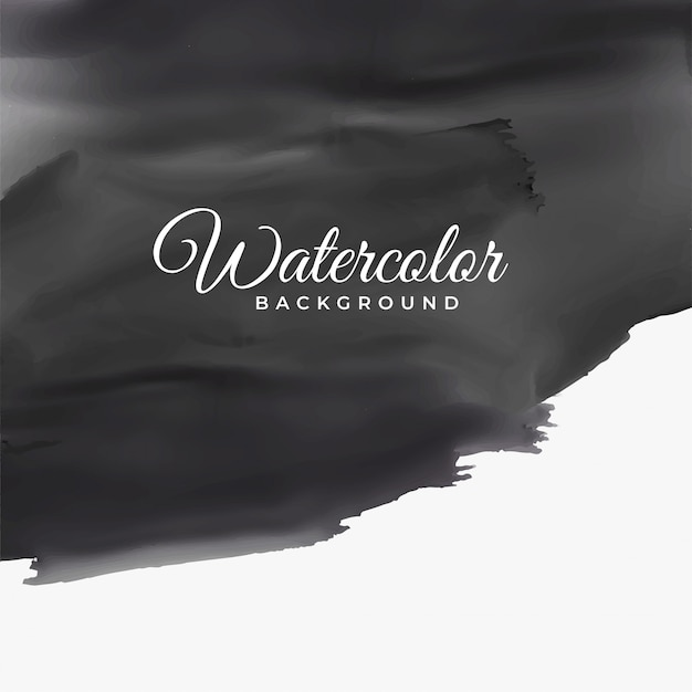 Black watercolor texture with text space Free Vector
