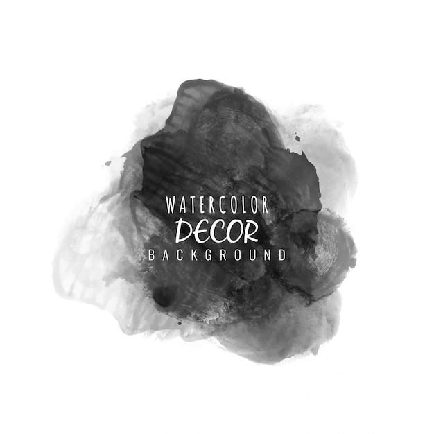 Black watercolor Premium Vector