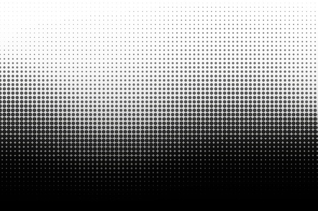 Black wave halftone background Free Vector