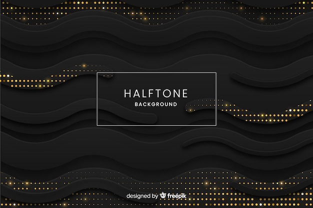 Black waves background Free Vector