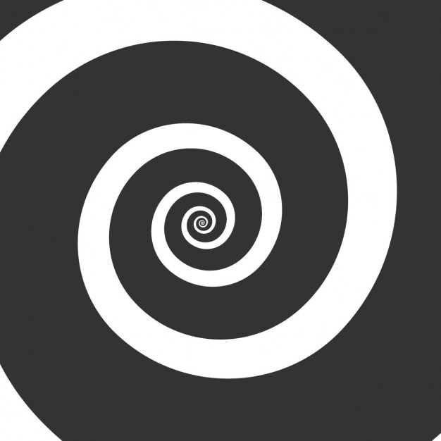 Black whirlpool background Free Vector