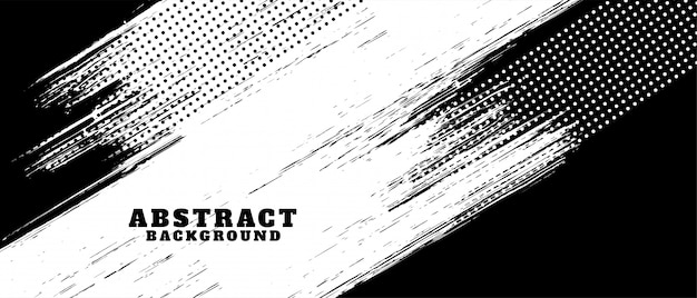 Free Vector Black And White Abstract Grunge Texture Background