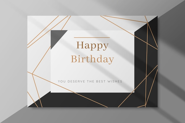 Black and white birthday card Free Vector