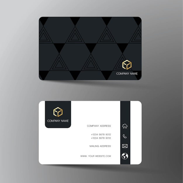 Black And White Business Card Design Vector Premium Download