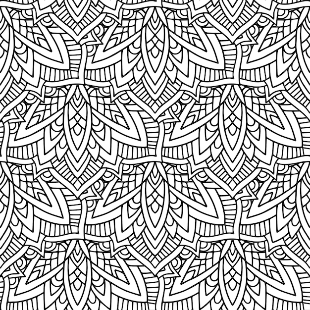 Black and white color tribal Premium Vector