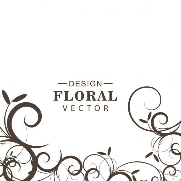 Black And White Floral Background Vector Free Download
