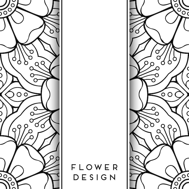 Black And White Floral Design Vector Free Download