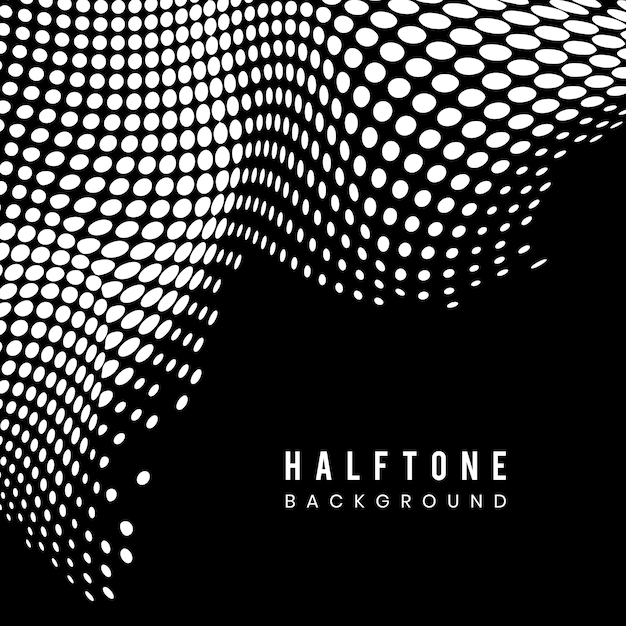 Black and white halftone background Free Vector