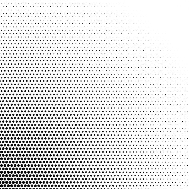 Black and white halftone pattern background Free Vector