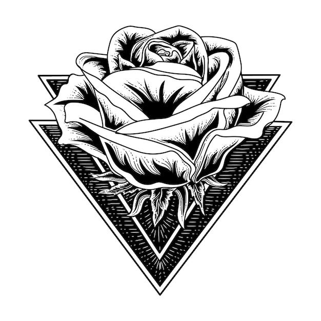 Tattoo Rose Black And White