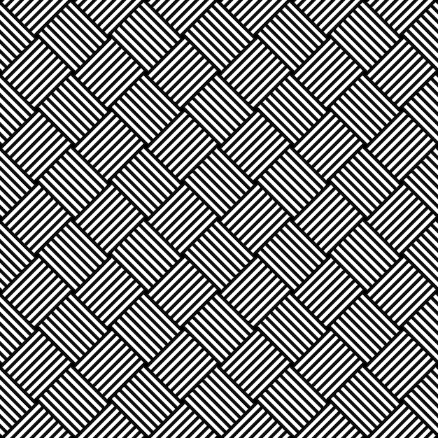Black and white hypnotic background seamless pattern.  illustration Premium Vector