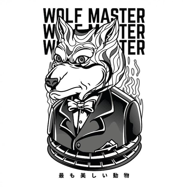 Black and white illustration Premium Vector