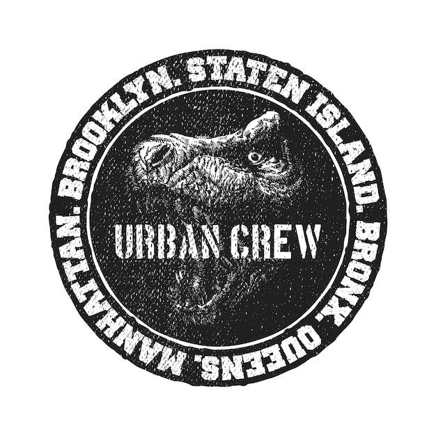Black and white logo. Premium Vector