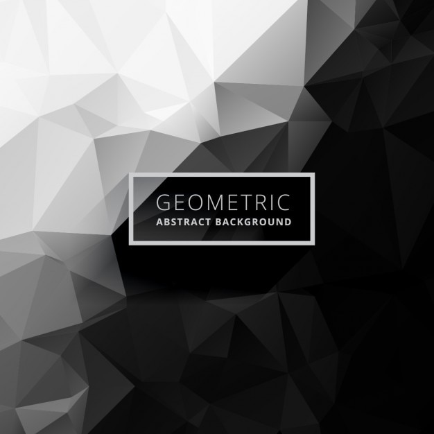 21 Download In Vector Eps Psd: Black And White Low Poly Background Vector