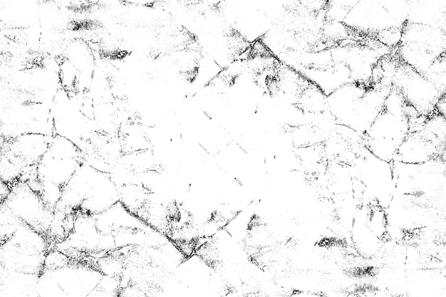 Black and white pattern with cracks, scuffs, chips, stains, ink spots. Premium Vector