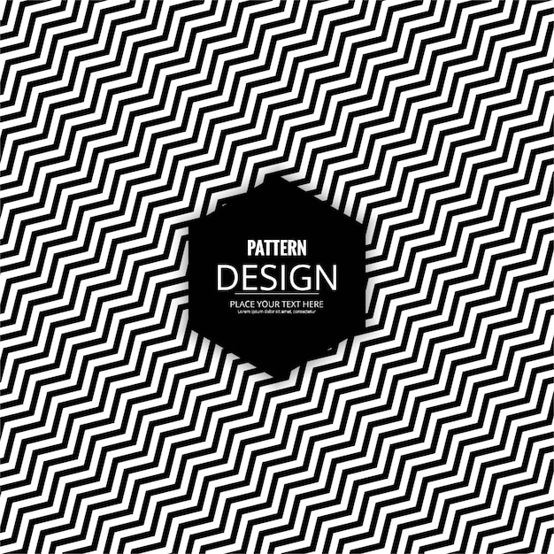 Black and white pattern with zig zag stripes Free Vector