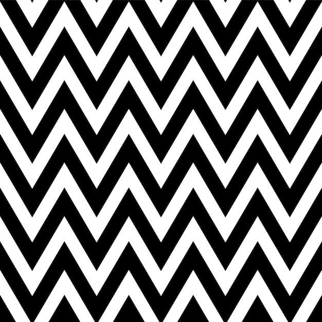 Black and white pattern in zigzag. classic chevron seamless pattern. Premium Vector