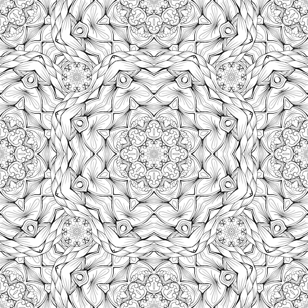 Black and white pattern Free Vector