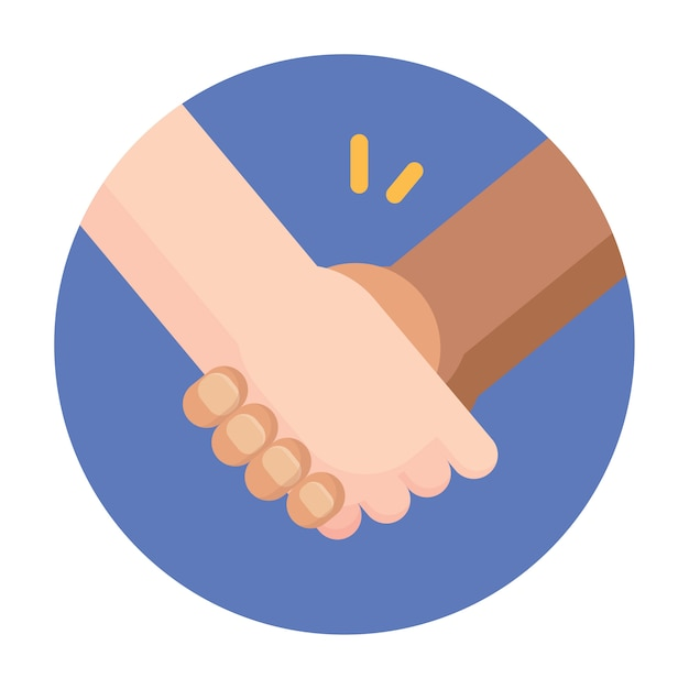 Black and white people holding hands Premium Vector