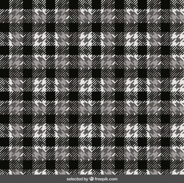Black And White Plaid Pattern Vector Free Download