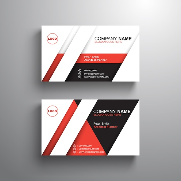 Black white red design business card template vector premium download black white red design business card template premium vector reheart Image collections