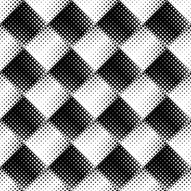 Black and white seamless abstract circle pattern background Premium Vector