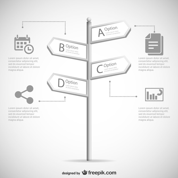 Black and white sign template Free Vector