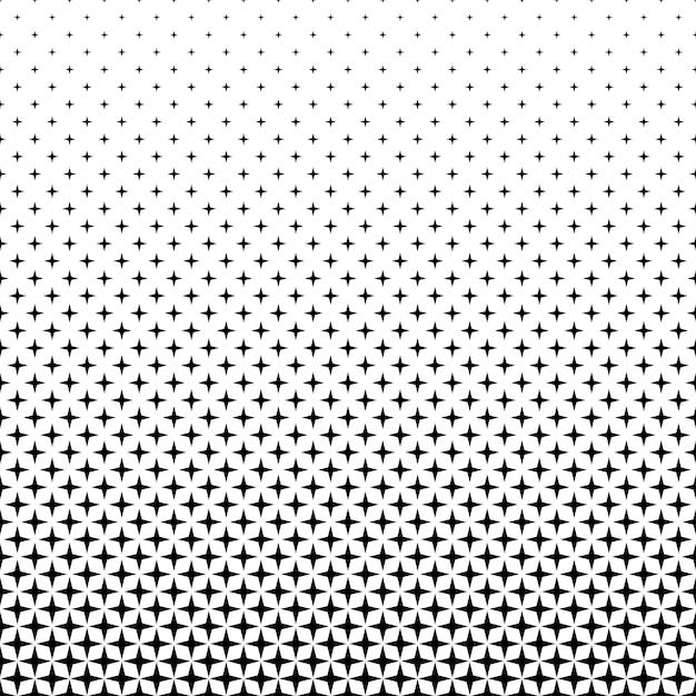 Black White Star Pattern