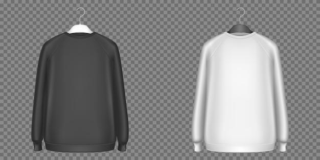 Black and white sweatshirts, longsleeves shirts Free Vector