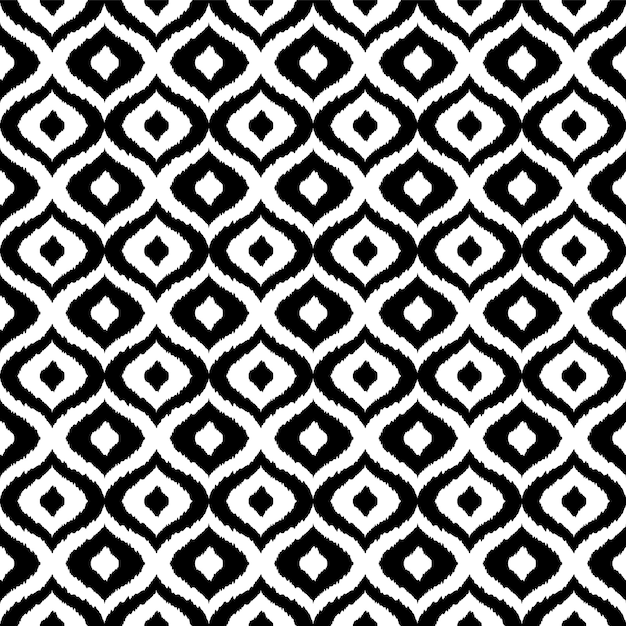 Black and white tribal seamless pattern Premium Vector