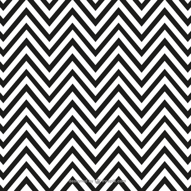 Black and white zigzag pattern Free Vector