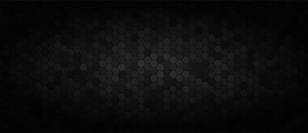 Черный широкий технологический фон Premium векторы