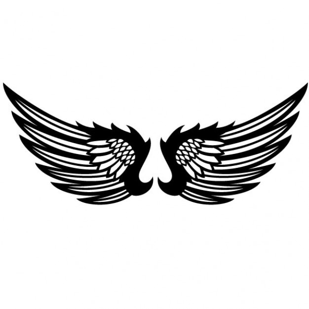 black wings graphic design vector vector free download rh freepik com free vector eagle wings free pilot wings vector