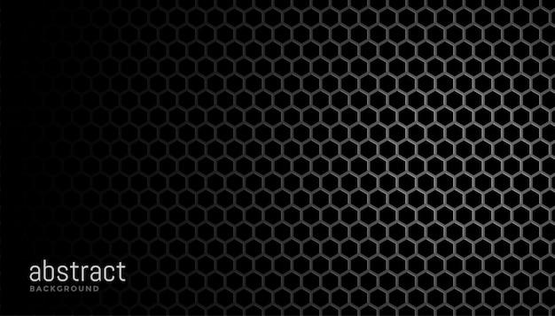 Black  with hexagonal mesh textur Free Vector