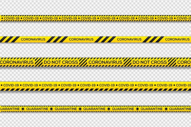Black and yellow danger quarantine stripes Free Vector