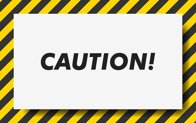 Black and yellow line striped. caution tape. blank warning background. Premium Vector