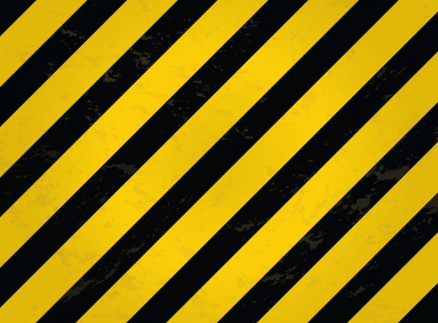 Black and yellow line striped. grunge warning striped background. Premium Vector