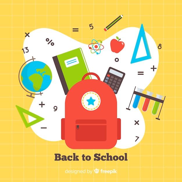 Blackboard back to school background Free Vector
