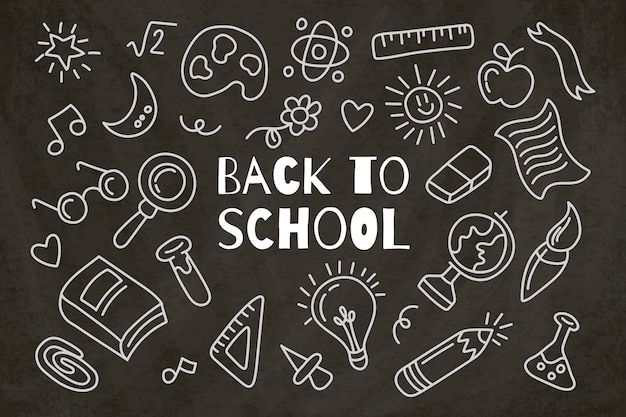 Blackboard back to school background Free Vector